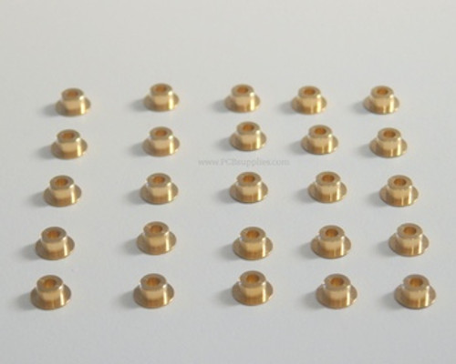 "Film Punch, Brass Registration Pins, qty 25 , OD .250"" , Height Choices : .040"", .070"", .110"""