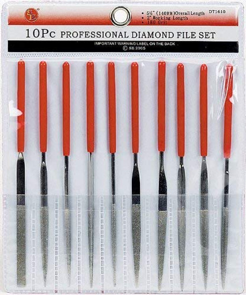 10 Piece Professional Diamond File Set
