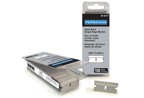 Single Edge Razor Blades, .009, 9, Bulk Case, 50 boxes of 100 , SE1-CS, personna, aluminum back, 61-0117-cs