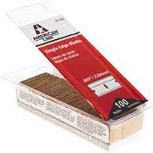 Single Edge Razor Blades, 100 box,.009, 9, American Line, AL-66-0089