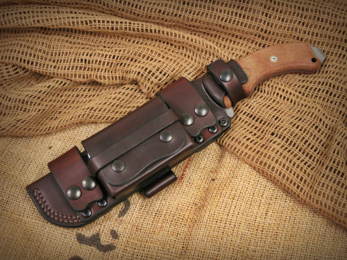 TOPS Tahoma Field Knife - PRS Deluxe Scout Sheath