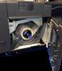 "Epson TM-C7500 color label printer has an integrated label unwinder, accomodating label rolls up to 8""  OD."