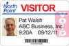 """4"""" Tab expiring name badge printed with Primera LX400 in full color"""