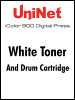 iColor 900 Digital Press White toner and drum cartridge kit