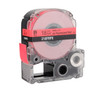"""Epson 218FRPX 3/4"""" Red Glossy Flourescent Label PX Tape"""