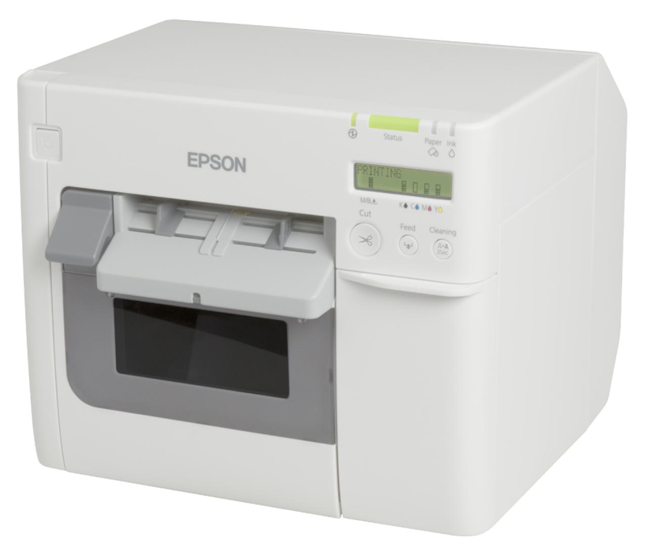 Epson ColorWorks TM-C3500 color label printer - front view -