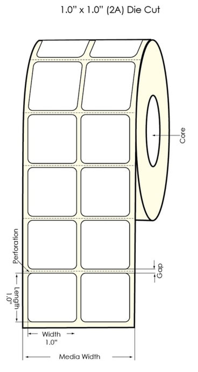 """LX900 4""""x3"""" NP Clear Polyester Labels"""