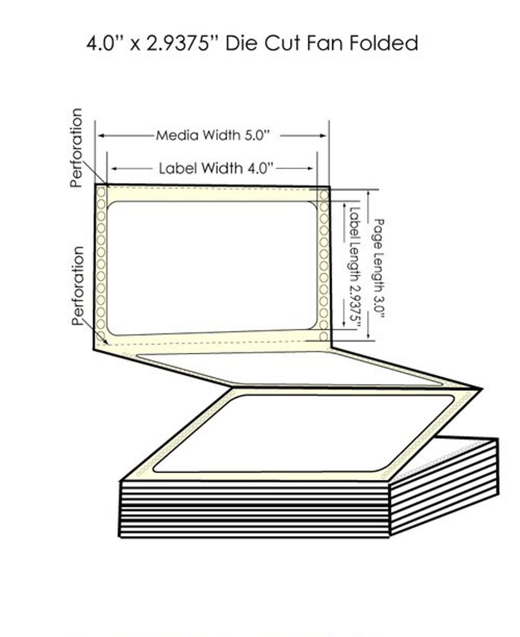 "Epson GP-C831 4"" x 2 15/16"" High Gloss Labels"