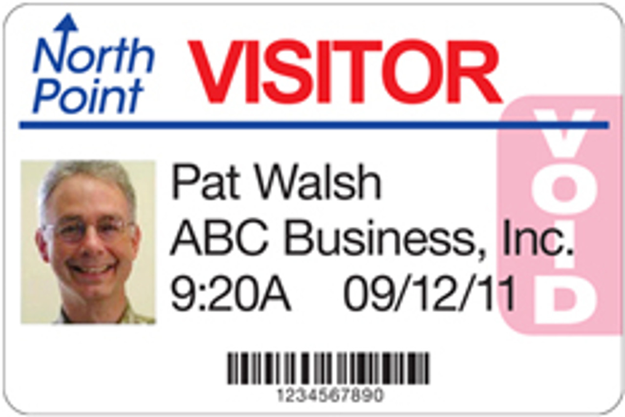 Tab expiring name badge printed with Primera LX400 in full color