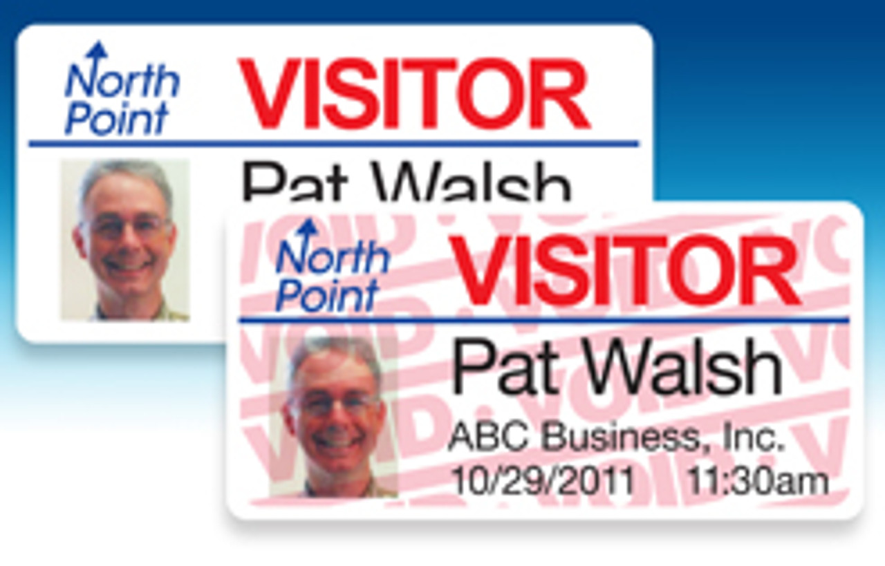 "VisitorPass 4"" x 2"" Full Expiring LX400/LX500 Inkjet Name Badges"