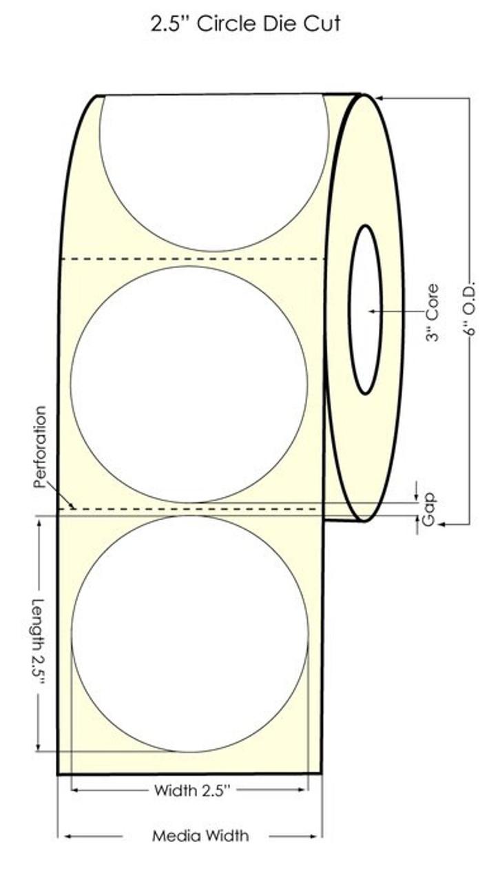 "Primera LX900  2.5"" Circle Silver Polyester Labels"