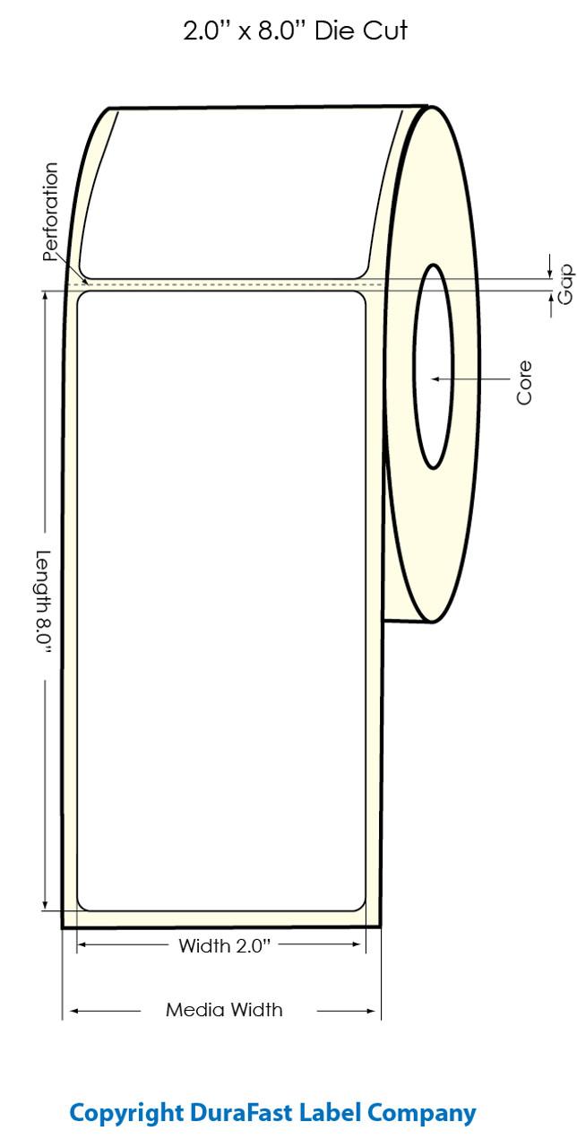 "Primera LX900  2"" x 8"" Gold Polyester Labels"