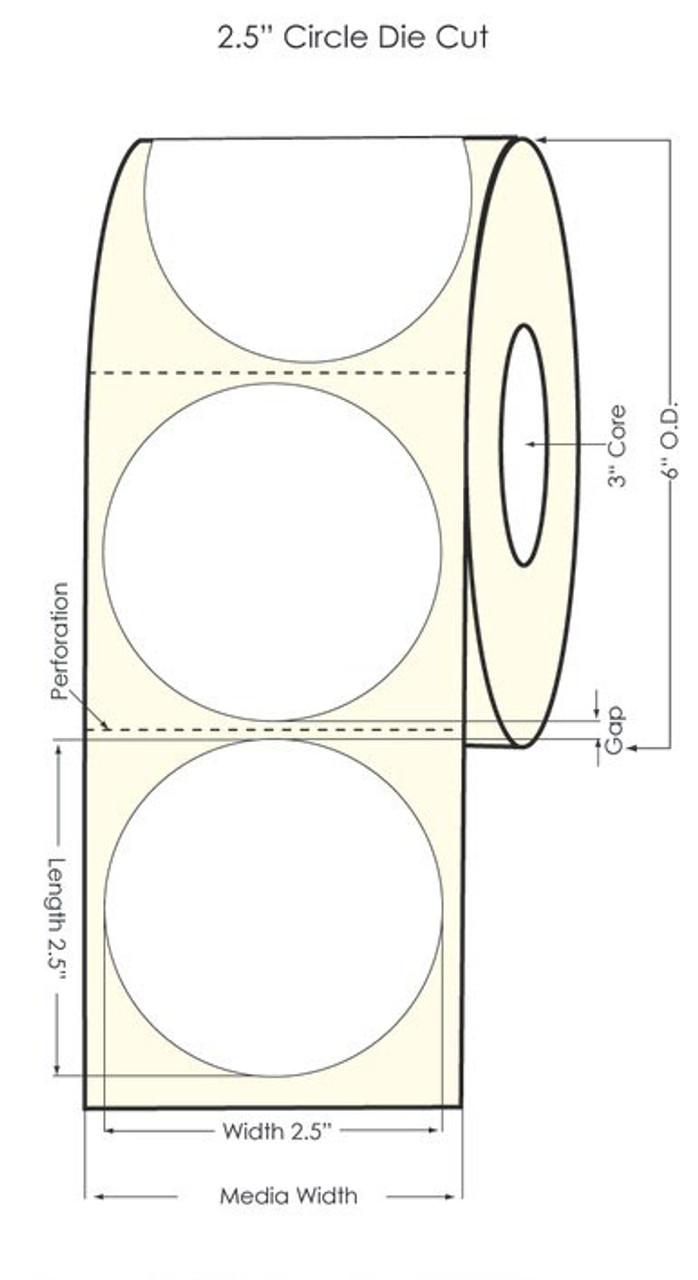 "Primera LX900  2.5"" Circle Gold Polyester Labels"