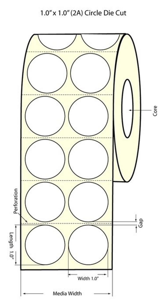 Primera LX900 1 inch Circle (2 across) Matte Labels PT932012