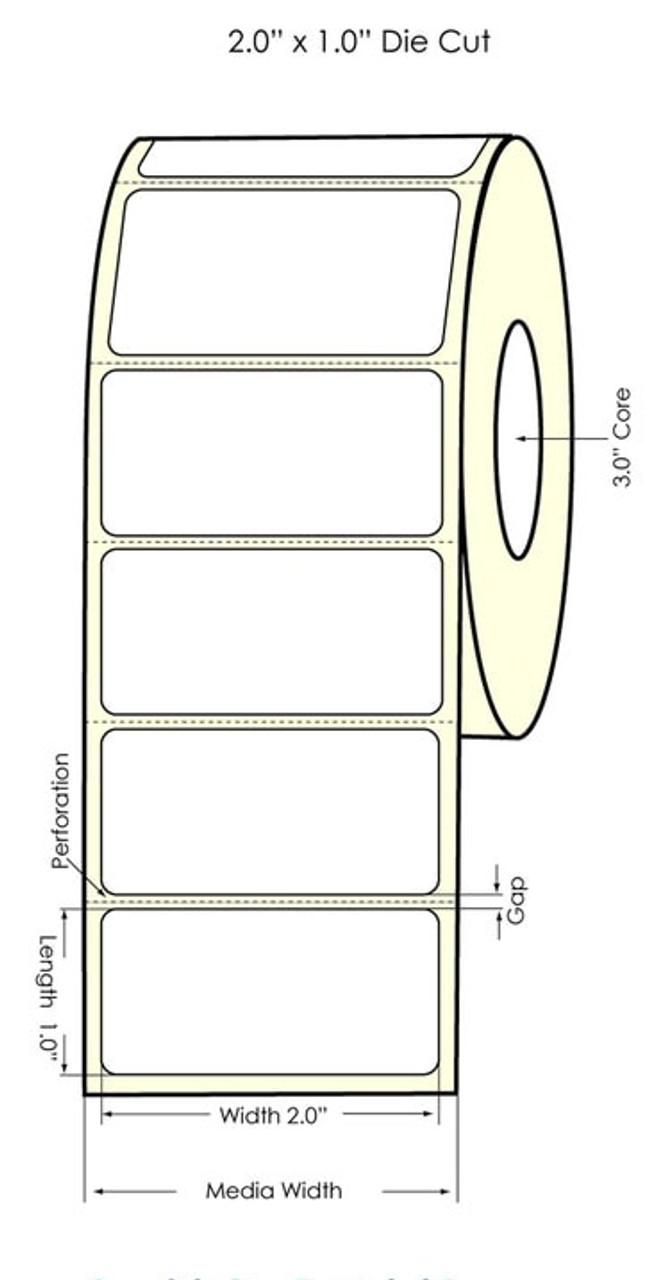 "Primera LX900 2""x1"" High Gloss Labels | 74801"