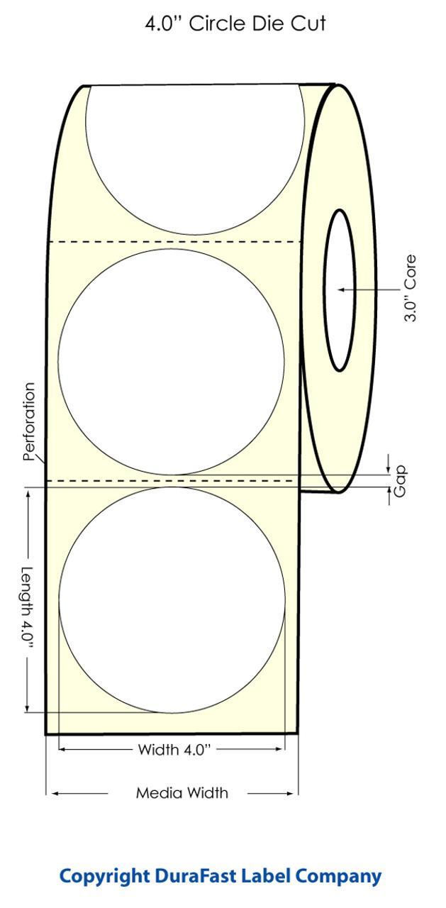 "Primera LX900 4"" Circle High Gloss Labels | 74827"