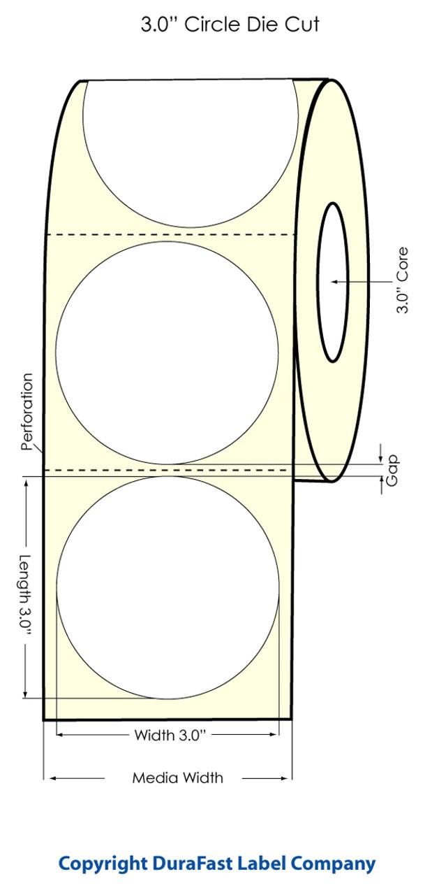 "Primera LX900 3"" Circle High Gloss Labels | 74828"