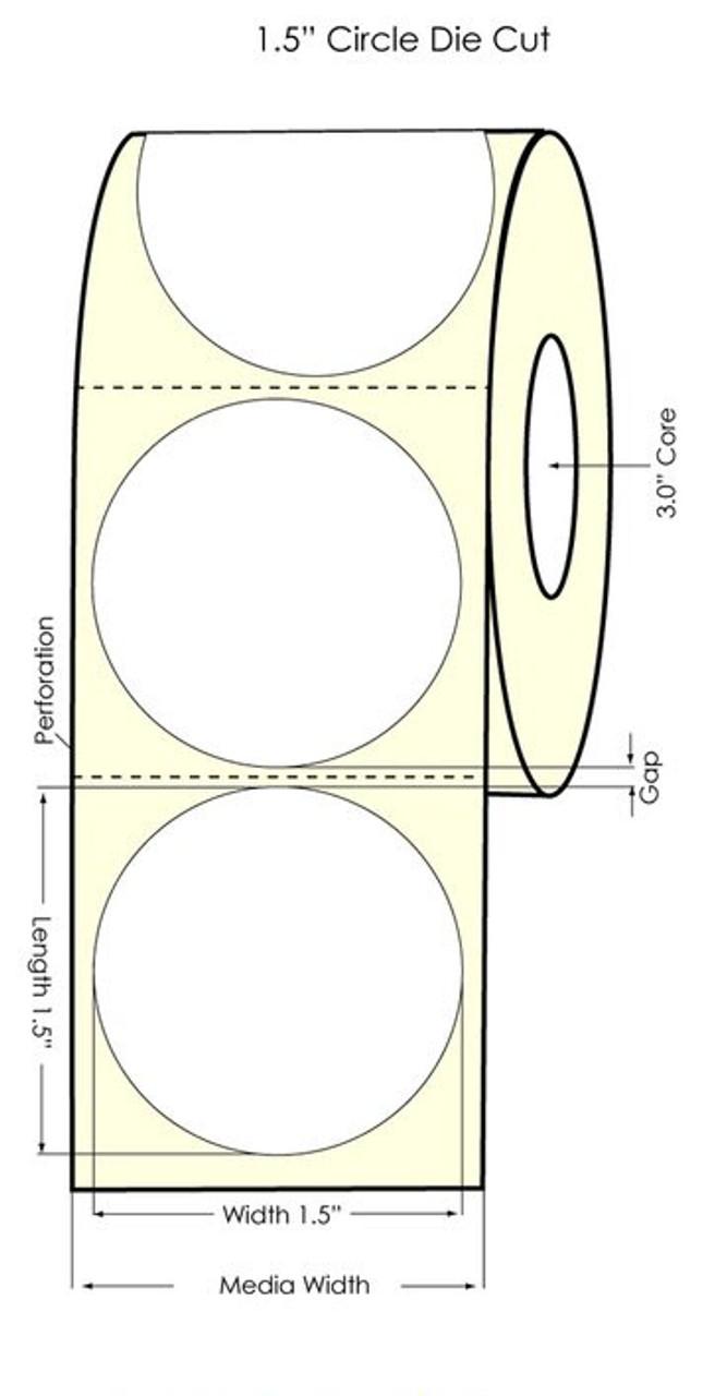 "Primera LX900 1.5"" Circle High Gloss Labels | 74853"