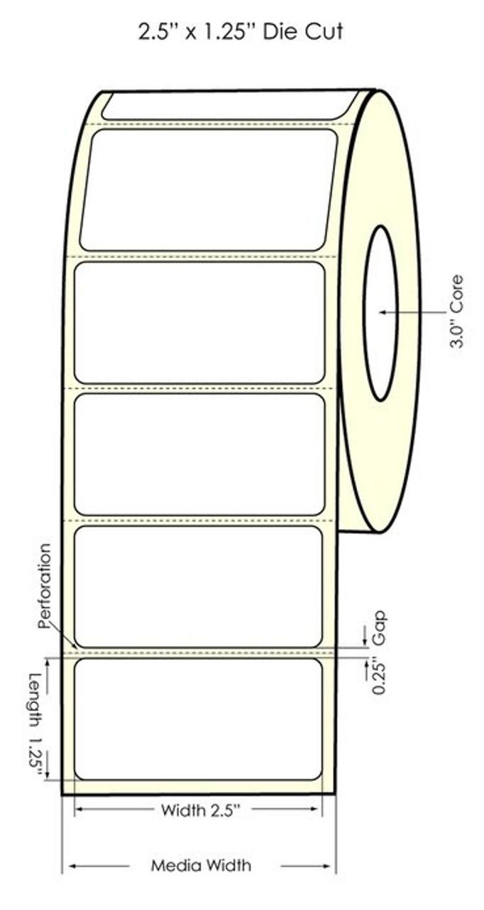 "Primera LX900 2.5"" x 1.25"" NP High-Gloss Labels"