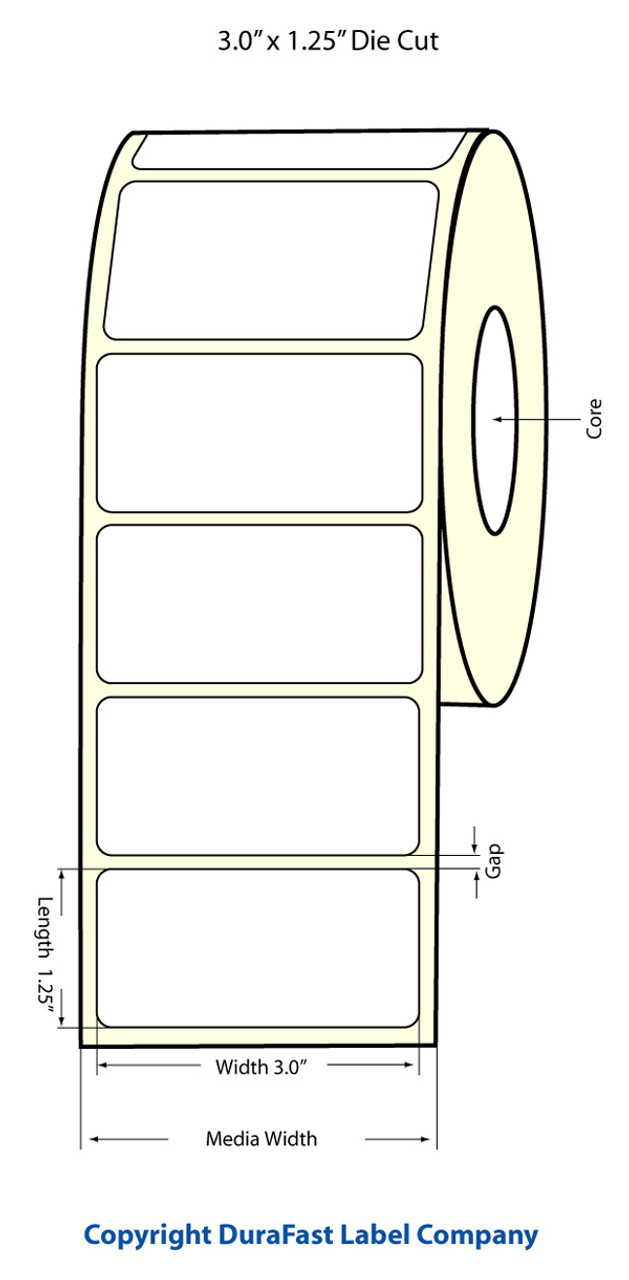 "Primera LX900 3""x1.25""  Matte Polypropylene Labels PT933020"