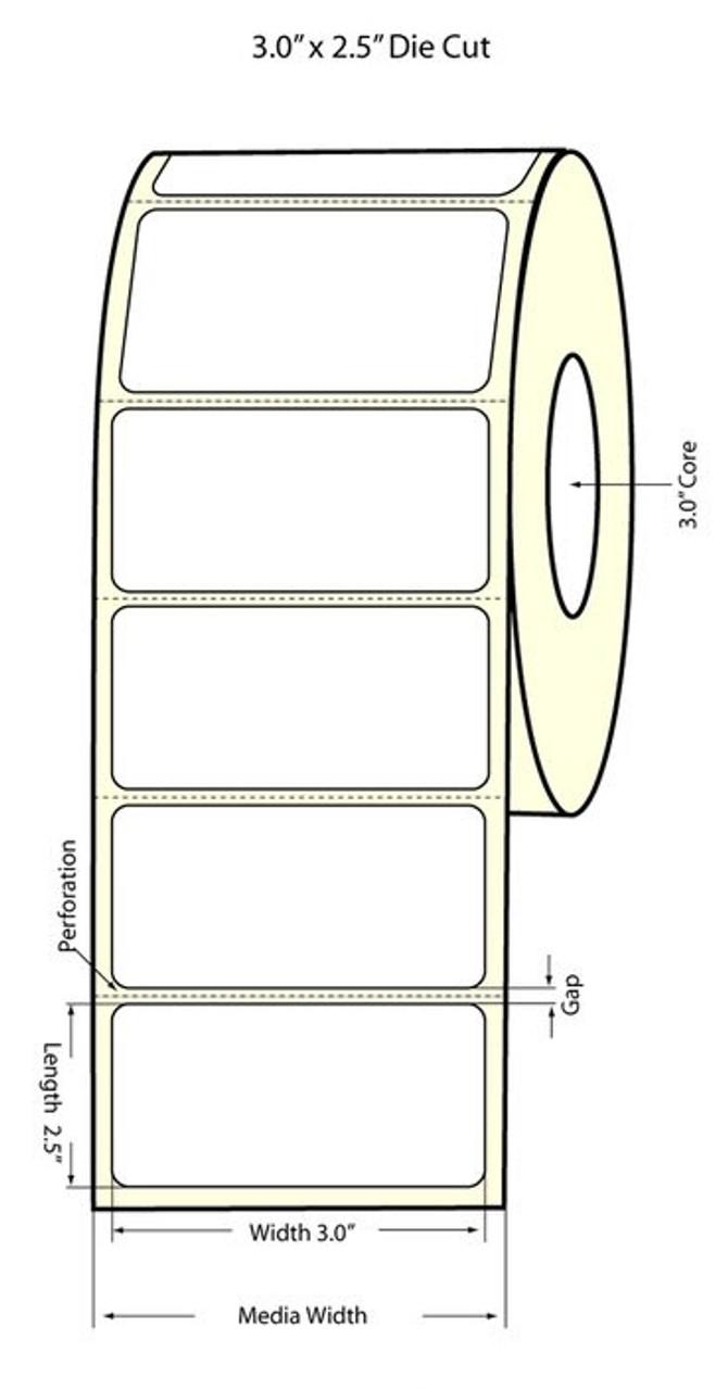"""Primera LX810 1.5"""" Circle Matte Polypropylene Labels 933015"""
