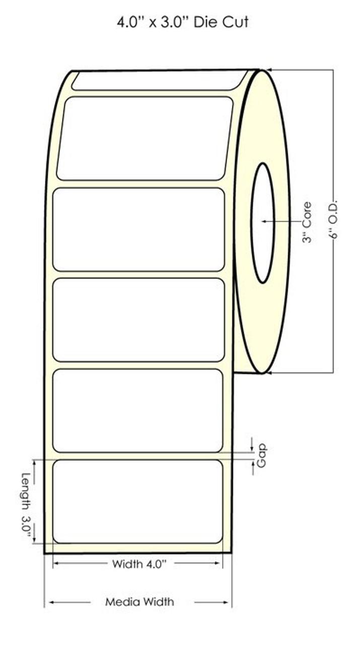 "Primera LX810 2.5"" Circle  High Gloss Polypropylene Labels 934001"