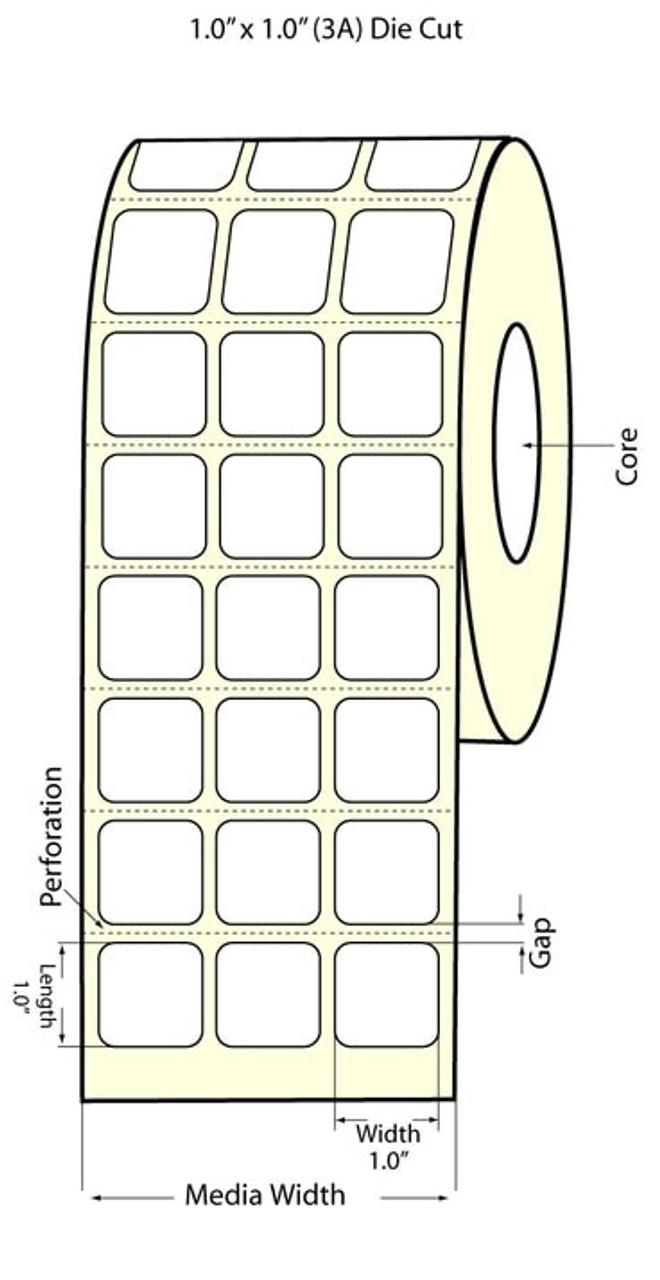 "Epson 1"" x 1"" Chemical Labels for TM-C3400 & TM-C3500"