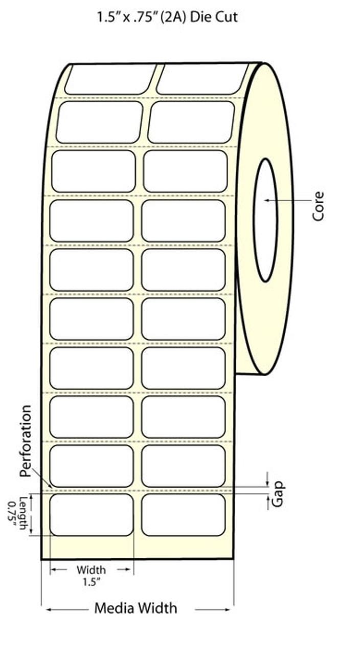 "Epson 1.5"" x 0.75"" Chemical Labels for TM-C3400 & TM-C3500"