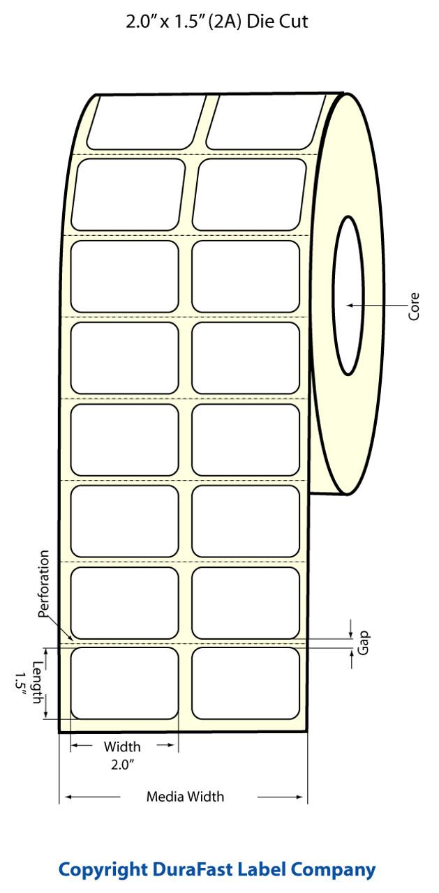 "Epson 2"" x 1.5"" Chemical Labels for TM-C3400 & TM-C3500"