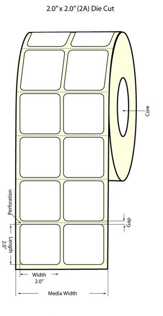 "Epson 2"" x 2"" Chemical Labels for TM-C3400 & TM-C3500"
