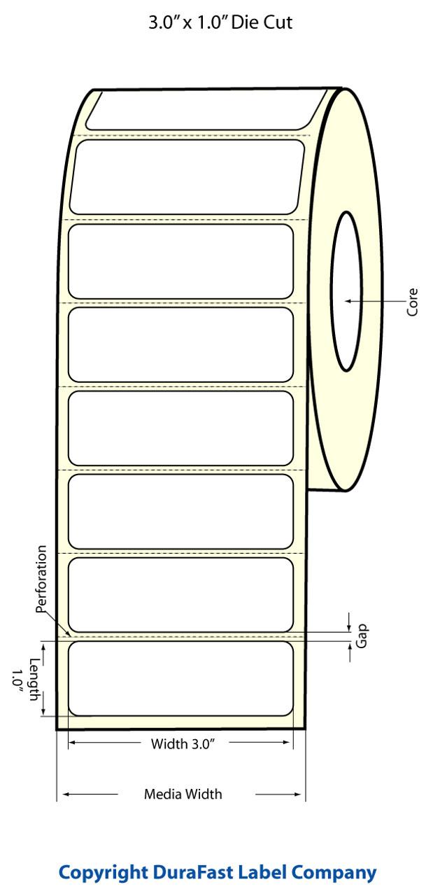 "Epson 3"" x 1"" Chemical Labels for TM-C3400 & TM-C3500"
