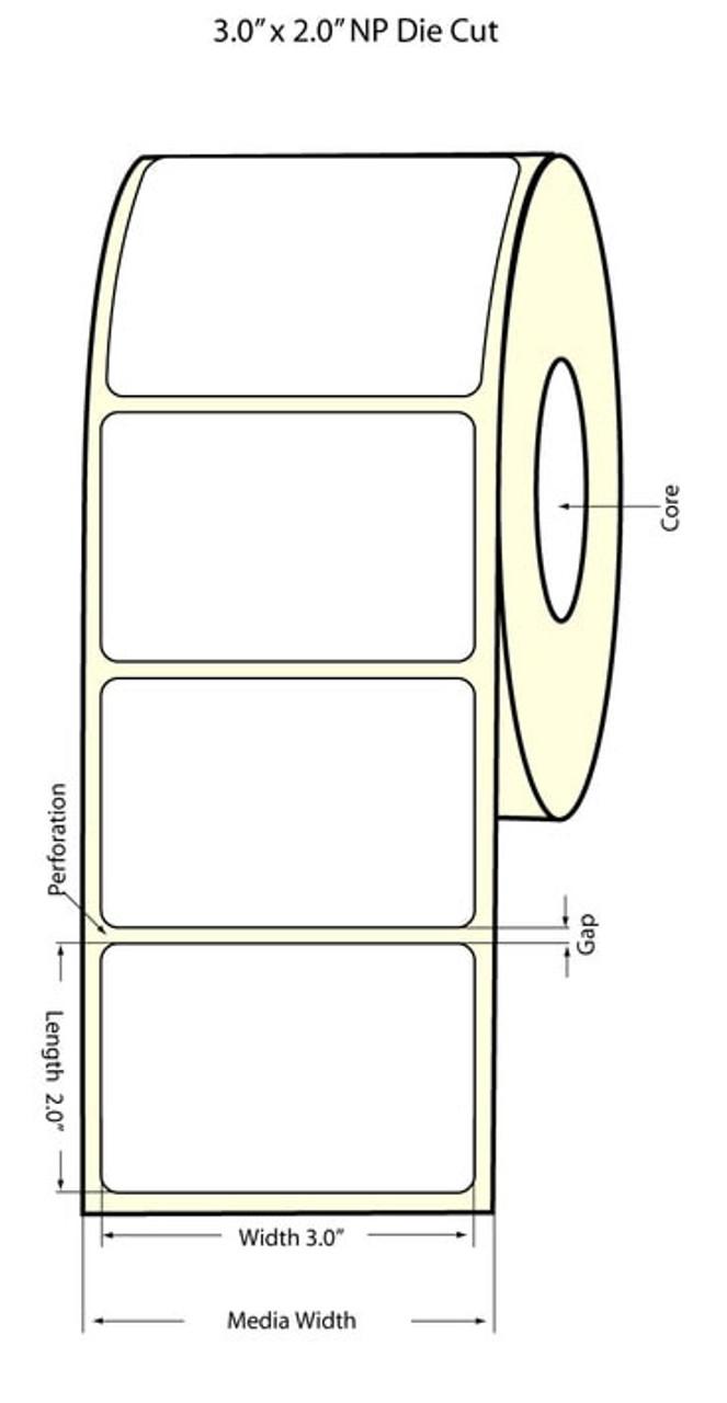 "Epson 3"" x 2"" Chemical Labels for TM-C3400 & TM-C3500"