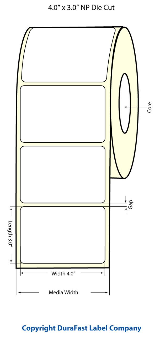 "Epson 4"" x 3"" Chemical Labels for TM-C3400 & TM-C3500"