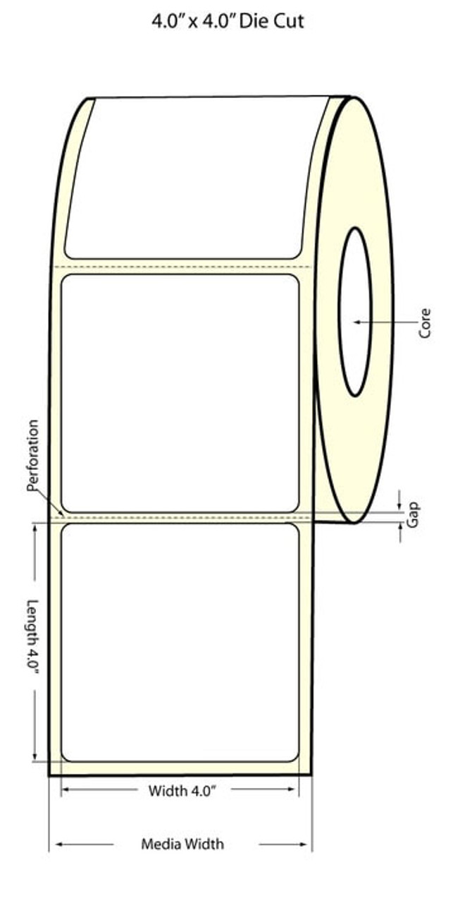 "Epson 4"" x 4"" Chemical Labels for TM-C3400 & TM-C3500"