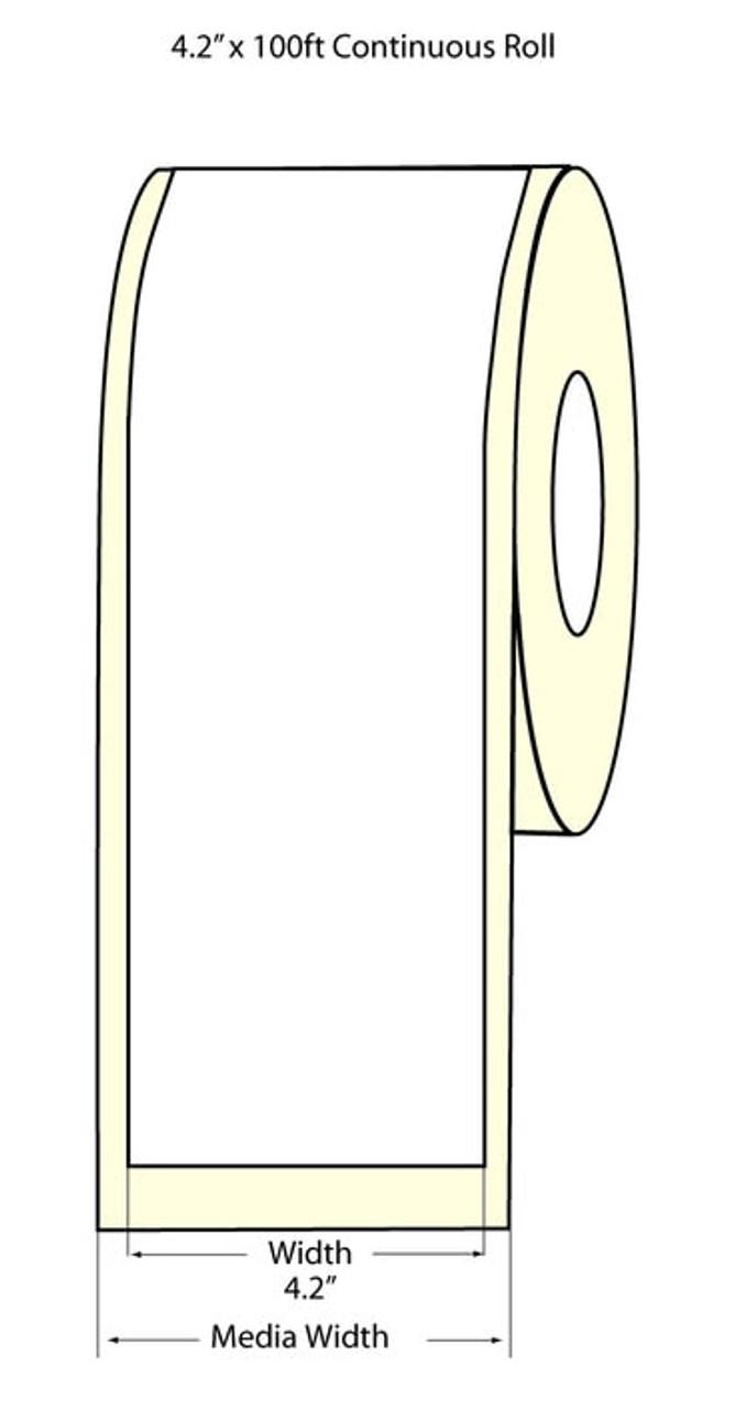 """Epson 4.2"""" x 100 Feet High Gloss Label for TM-C3400 & TM-C3500"""