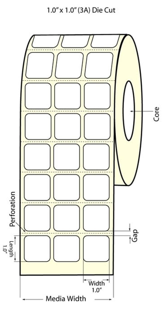 """Epson 1"""" x 1"""" High Gloss Label for TM-C3400 & TM-C3500"""