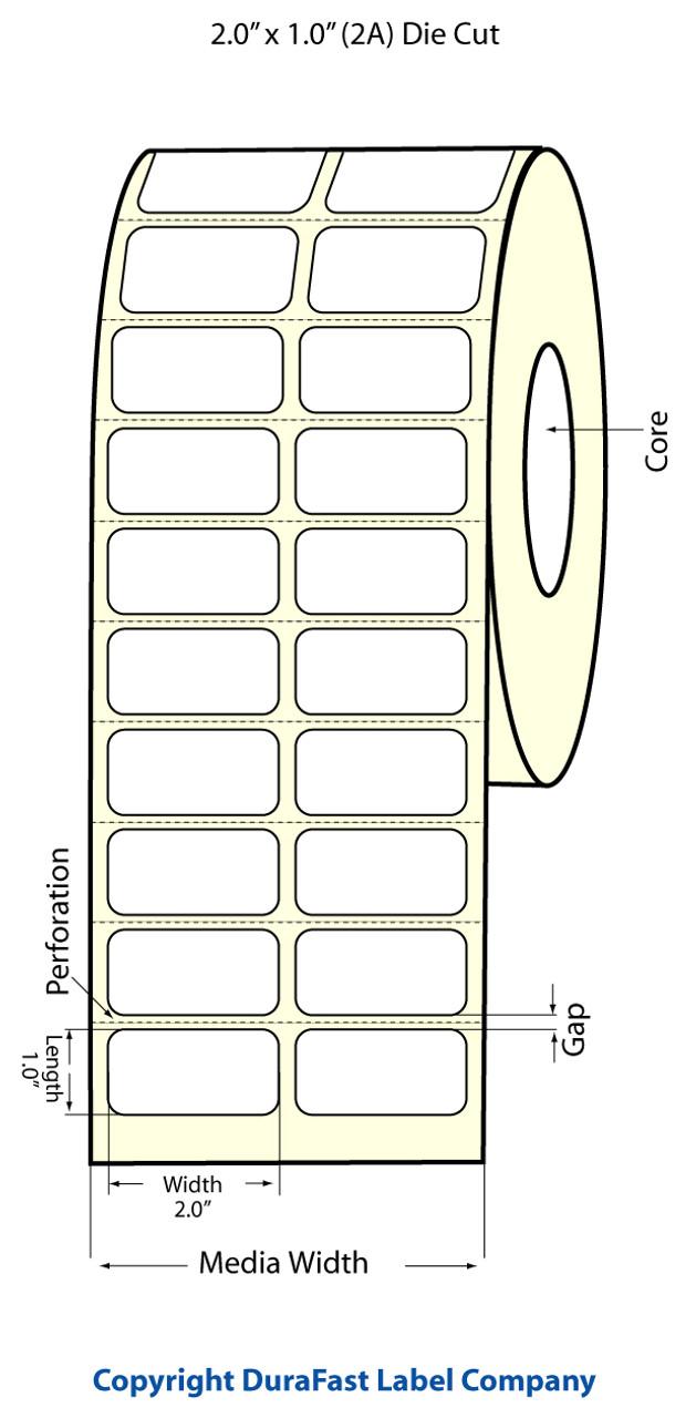 """Epson 2"""" x 1"""" High Gloss Label for TM-C3400 & TM-C3500"""