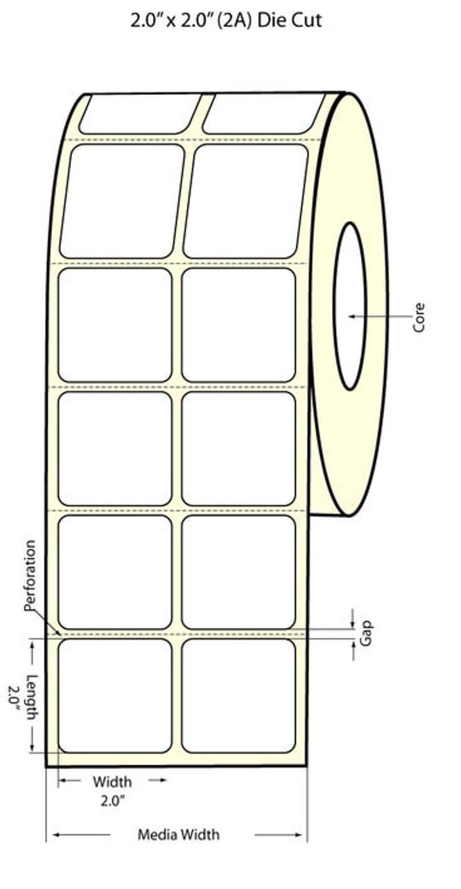 """Epson 2"""" x 2"""" High Gloss Label for TM-C3400 & TM-C3500"""