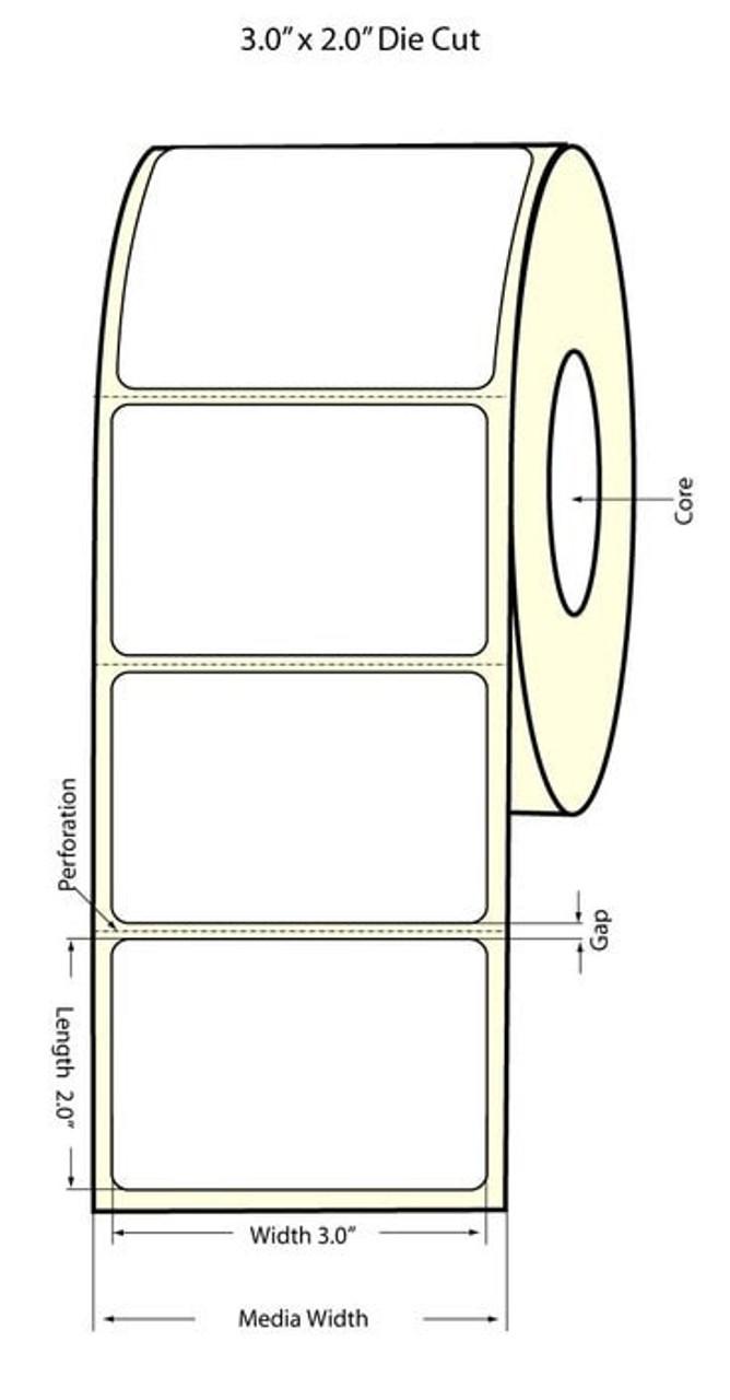 """Epson 3"""" x 2"""" High Gloss Label for TM-C3400 & TM-C3500"""
