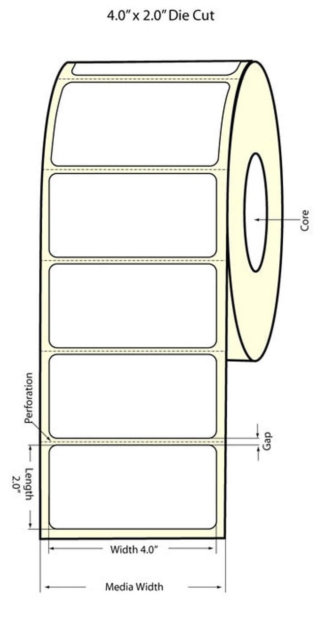 """Epson 4"""" x 2"""" High Gloss Label for TM-C3400 & TM-C3500"""