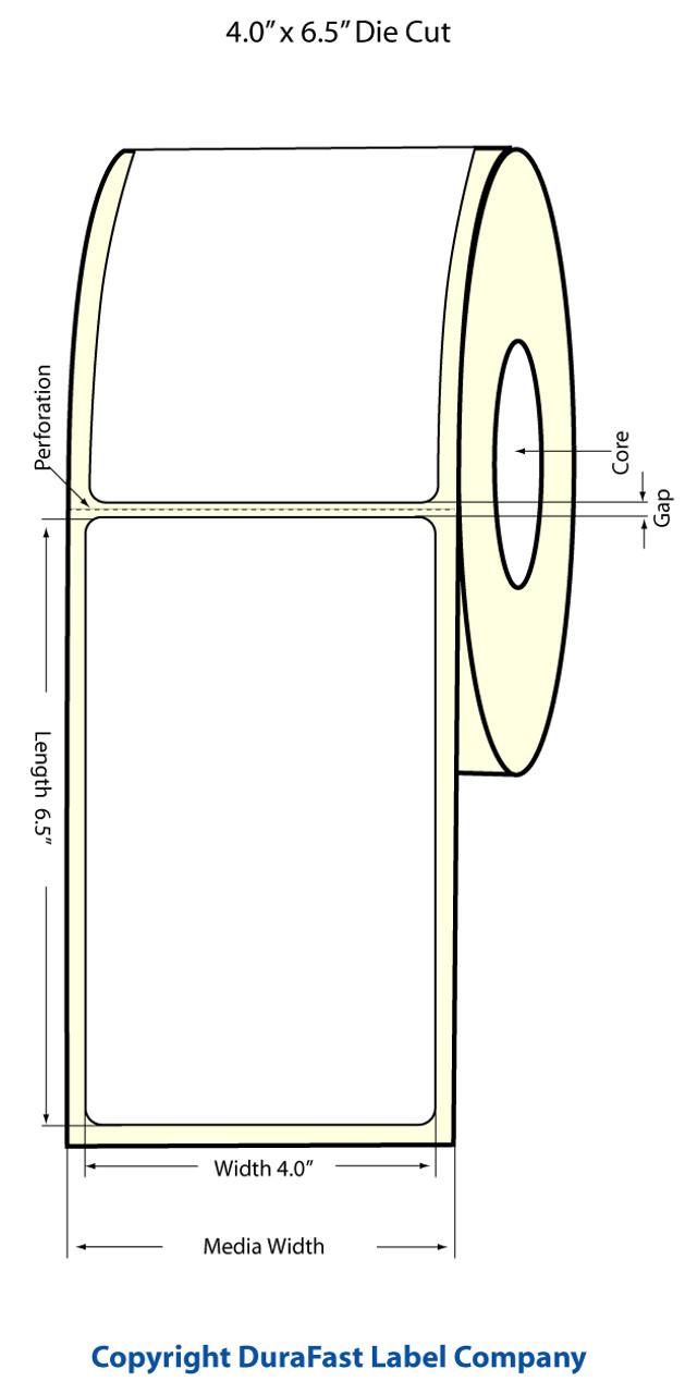 """Epson 4"""" x 6.5"""" High Gloss Label for TM-C3400 & TM-C3500"""