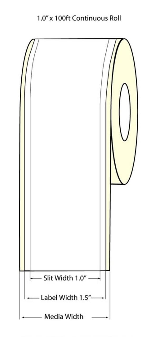 """Epson 1"""" x 100 Feet High Gloss Label for TM-C3400 & TM-C3500"""