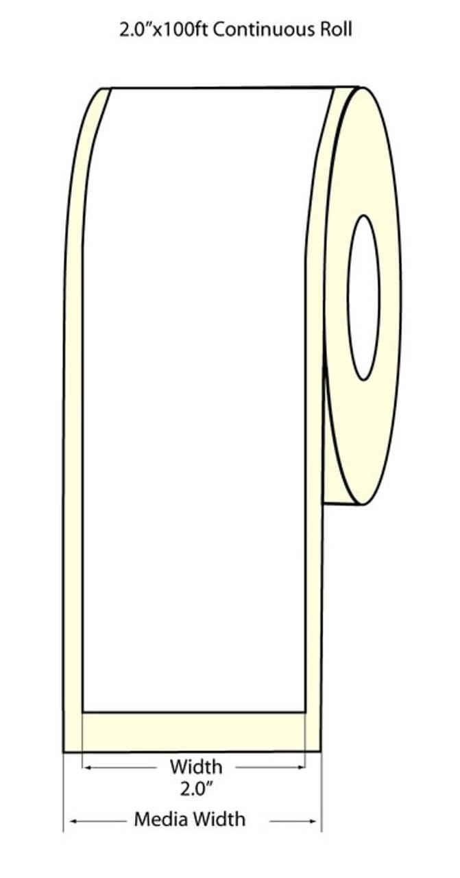 """Epson 2"""" x 100 Feet Matte Label Roll for TM-C3400 & TM-C3500"""