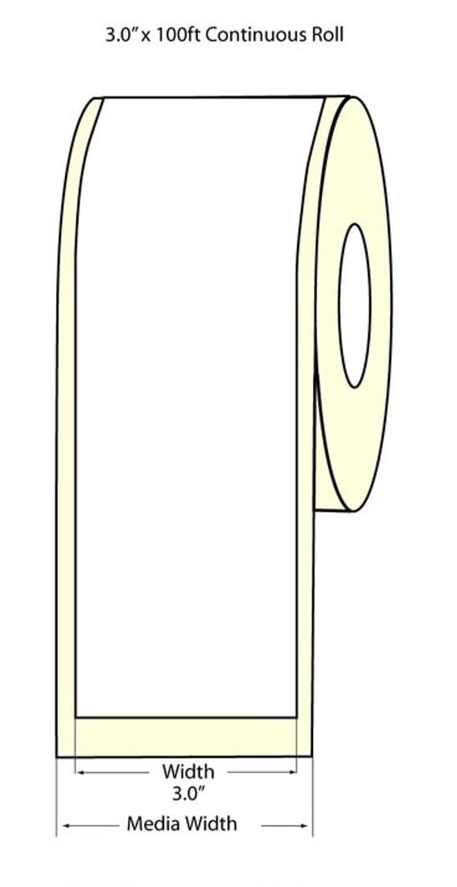 """Epson 3"""" x 100 Feet Matte Label Roll for TM-C3400 & TM-C3500"""