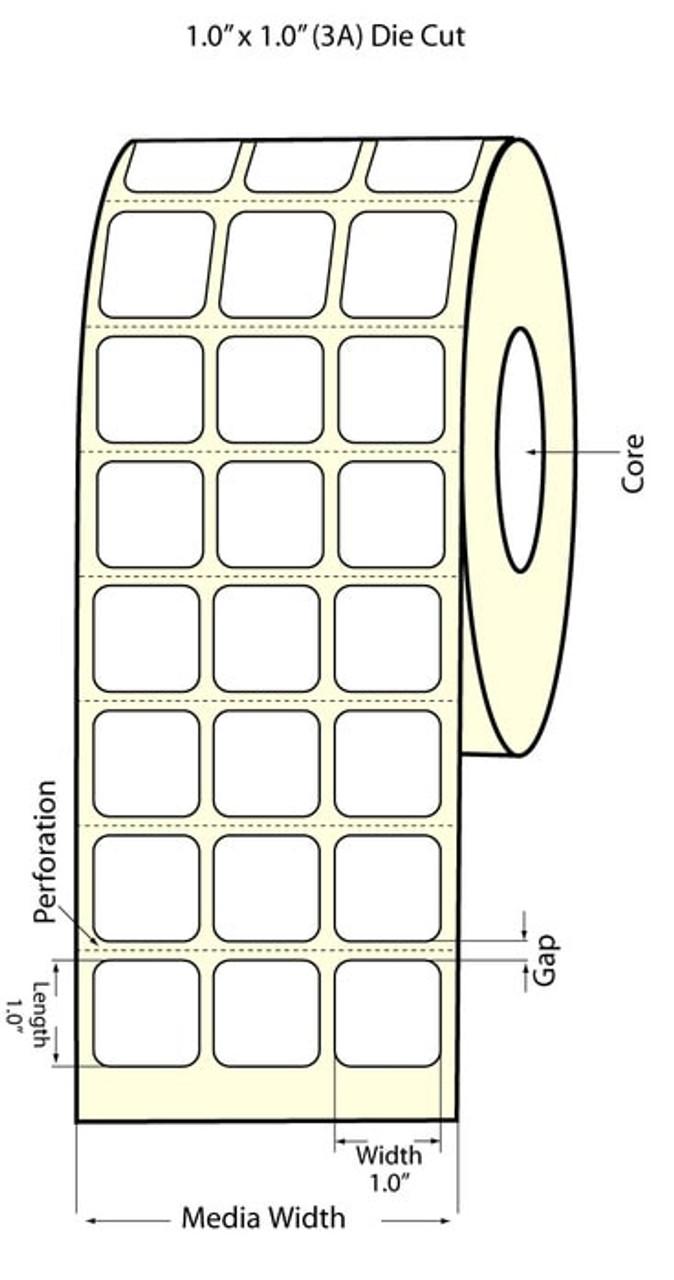 """Epson 1"""" x 1"""" Matte Labels for TM-C3400 & TM-C3500"""