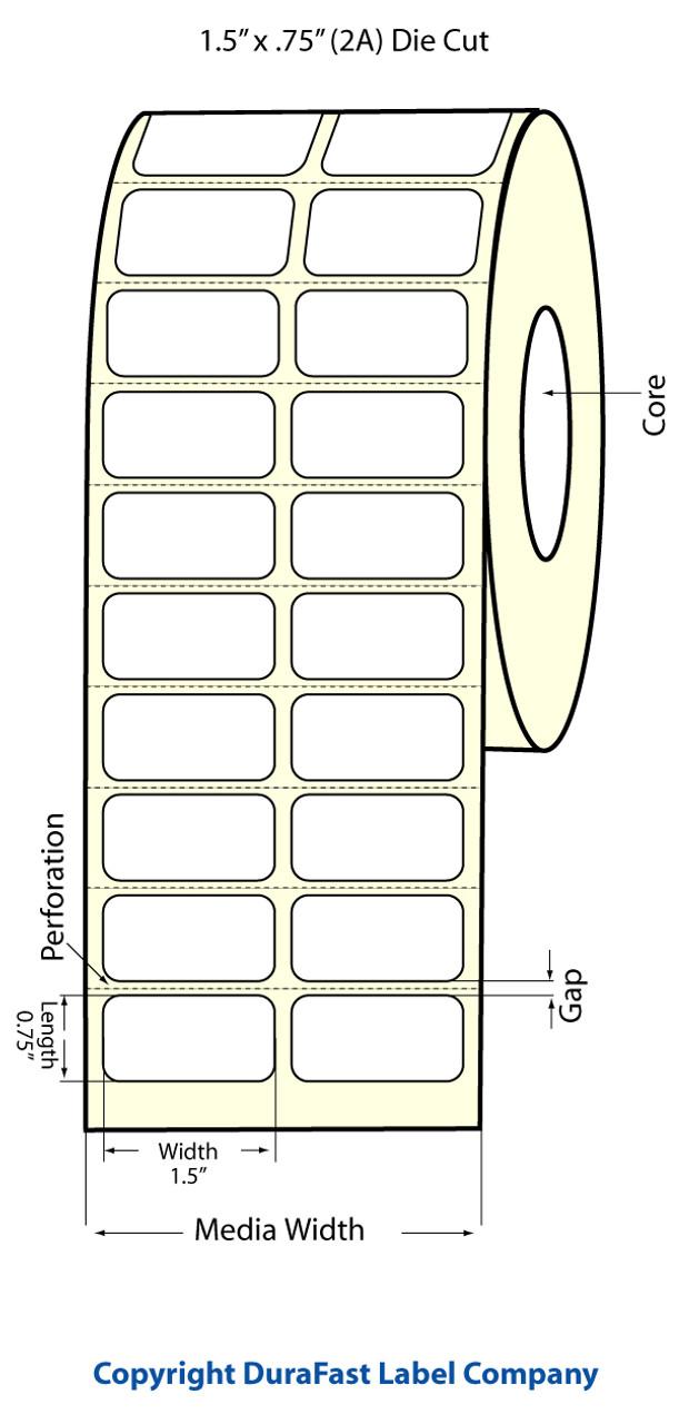 """Epson 1.5"""" x 0.75"""" Matte Labels for TM-C3400 & TM-C3500"""