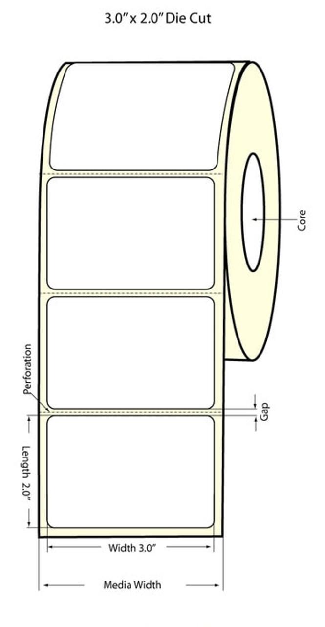 """Epson 3"""" x 2"""" Matte Labels for TM-C3400 & TM-C3500"""
