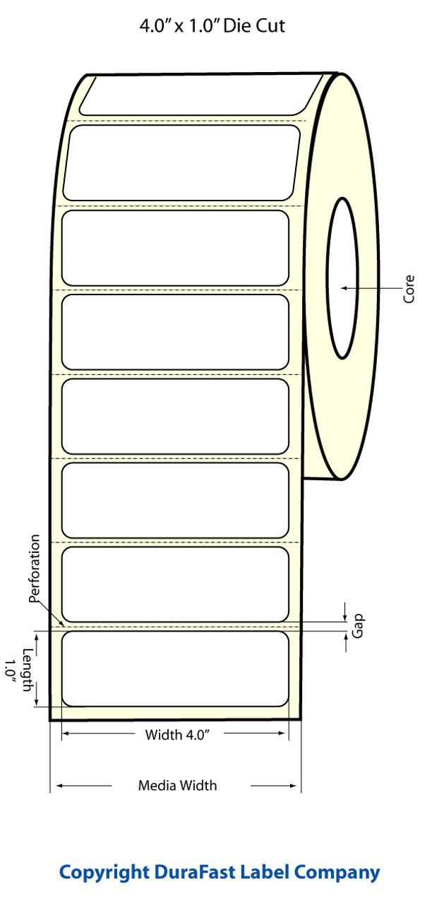 """Epson 4"""" x 1"""" Matte Labels for TM-C3400 & TM-C3500"""