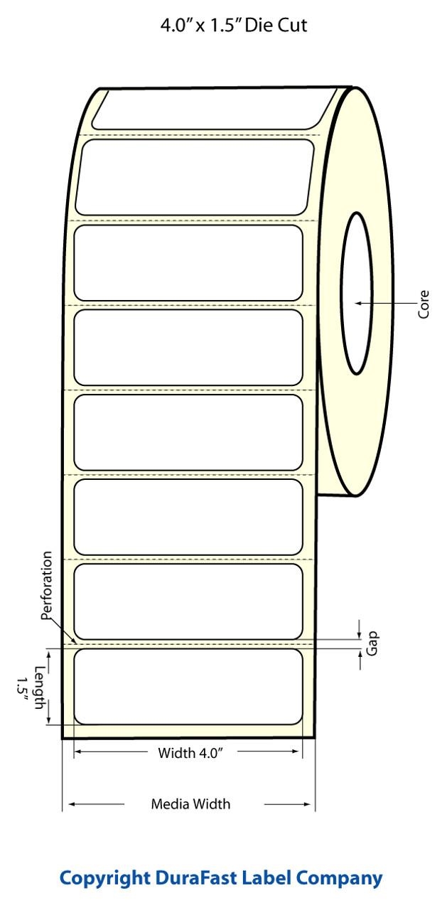 """Epson 4"""" x 1.5"""" Matte Labels for TM-C3400 & TM-C3500"""