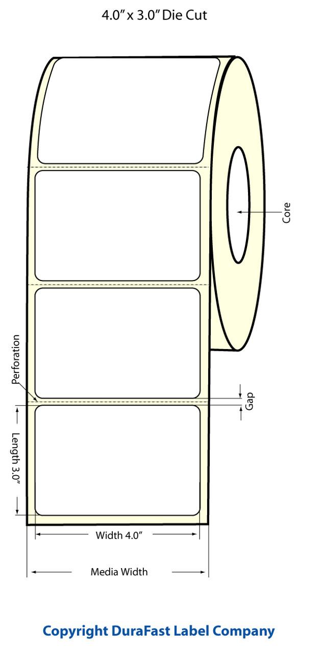 """Epson 4"""" x 3"""" Matte Labels for TM-C3400 & TM-C3500"""